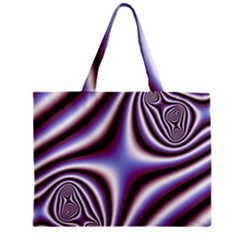 Fractal Background With Curves Created From Checkboard Zipper Mini Tote Bag