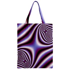 Fractal Background With Curves Created From Checkboard Zipper Classic Tote Bag