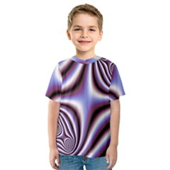 Fractal Background With Curves Created From Checkboard Kids  Sport Mesh Tee