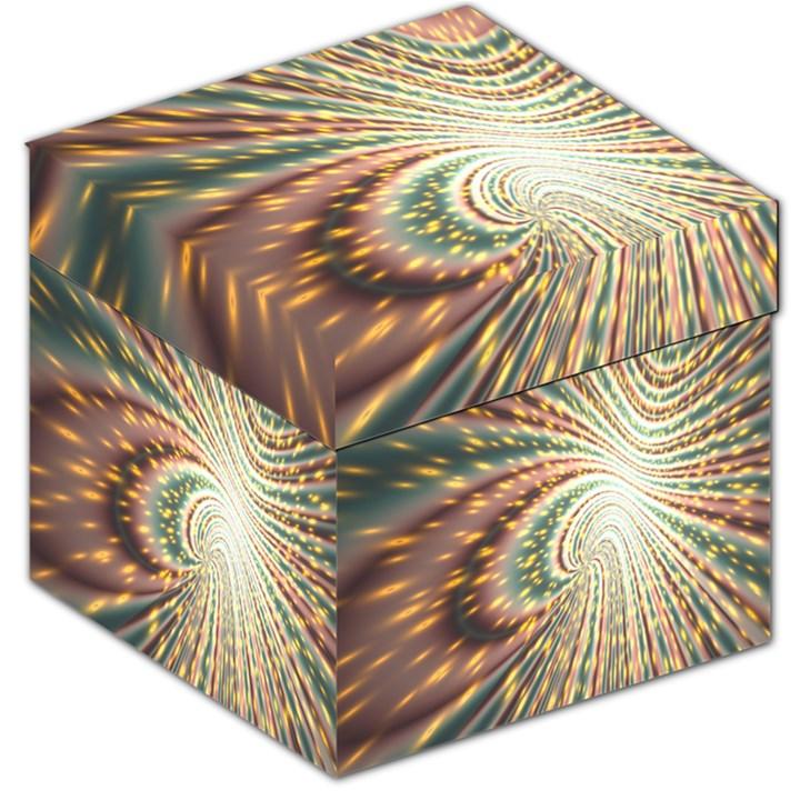 Vortex Glow Abstract Background Storage Stool 12