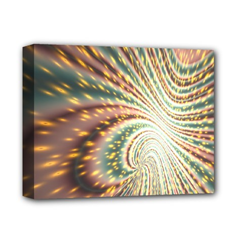 Vortex Glow Abstract Background Deluxe Canvas 14  x 11