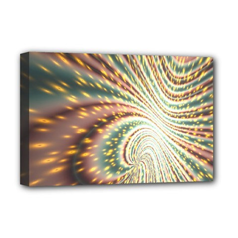 Vortex Glow Abstract Background Deluxe Canvas 18  X 12