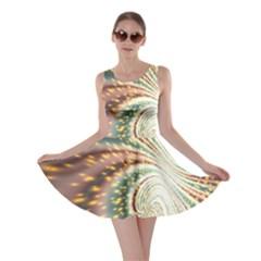 Vortex Glow Abstract Background Skater Dress