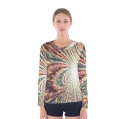 Vortex Glow Abstract Background Women s Long Sleeve Tee