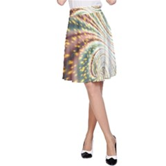 Vortex Glow Abstract Background A-Line Skirt