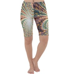 Vortex Glow Abstract Background Cropped Leggings