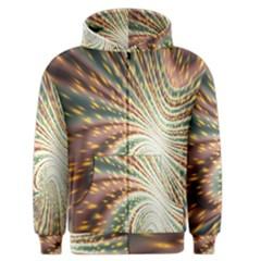Vortex Glow Abstract Background Men s Zipper Hoodie