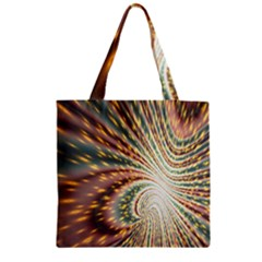 Vortex Glow Abstract Background Zipper Grocery Tote Bag