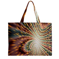 Vortex Glow Abstract Background Zipper Mini Tote Bag