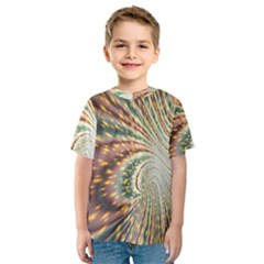 Vortex Glow Abstract Background Kids  Sport Mesh Tee