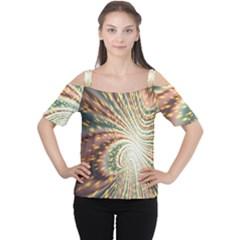 Vortex Glow Abstract Background Women s Cutout Shoulder Tee