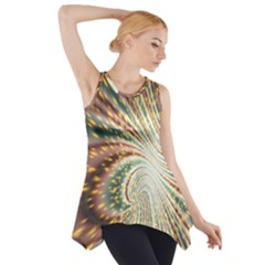 Vortex Glow Abstract Background Side Drop Tank Tunic