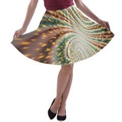 Vortex Glow Abstract Background A Line Skater Skirt