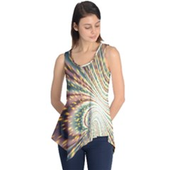Vortex Glow Abstract Background Sleeveless Tunic