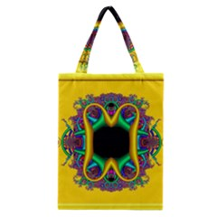 Fractal Rings In 3d Glass Frame Classic Tote Bag