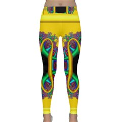 Fractal Rings In 3d Glass Frame Classic Yoga Leggings