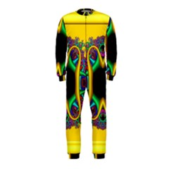 Fractal Rings In 3d Glass Frame OnePiece Jumpsuit (Kids)