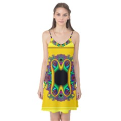 Fractal Rings In 3d Glass Frame Camis Nightgown