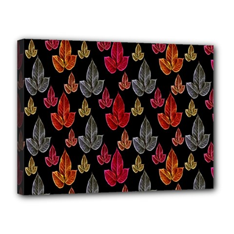 Leaves Pattern Background Canvas 16  X 12