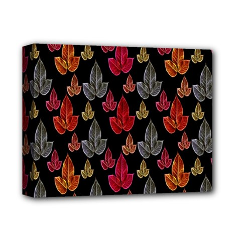 Leaves Pattern Background Deluxe Canvas 14  x 11