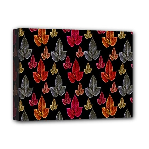 Leaves Pattern Background Deluxe Canvas 16  x 12