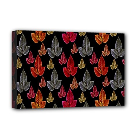 Leaves Pattern Background Deluxe Canvas 18  X 12