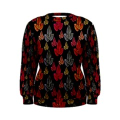 Leaves Pattern Background Women s Sweatshirt