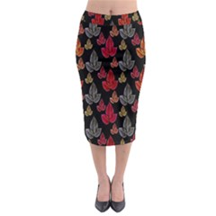 Leaves Pattern Background Midi Pencil Skirt