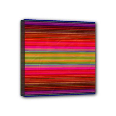 Fiestal Stripe Bright Colorful Neon Stripes Background Mini Canvas 4  X 4