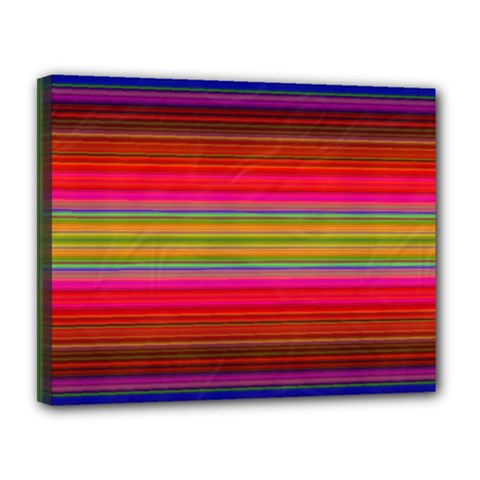 Fiestal Stripe Bright Colorful Neon Stripes Background Canvas 14  X 11