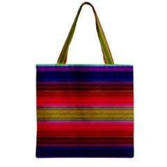 Fiestal Stripe Bright Colorful Neon Stripes Background Grocery Tote Bag