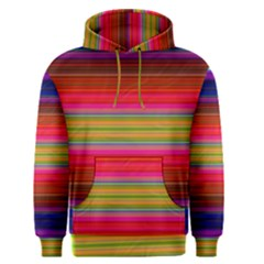 Fiestal Stripe Bright Colorful Neon Stripes Background Men s Pullover Hoodie