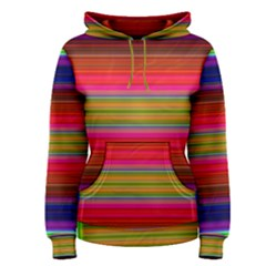 Fiestal Stripe Bright Colorful Neon Stripes Background Women s Pullover Hoodie