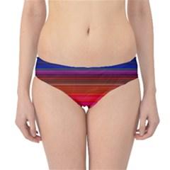 Fiestal Stripe Bright Colorful Neon Stripes Background Hipster Bikini Bottoms