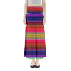Fiestal Stripe Bright Colorful Neon Stripes Background Maxi Skirts