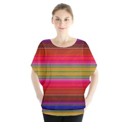 Fiestal Stripe Bright Colorful Neon Stripes Background Blouse