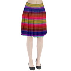 Fiestal Stripe Bright Colorful Neon Stripes Background Pleated Skirt