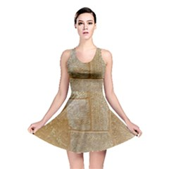 Texture Of Ceramic Tile Reversible Skater Dress