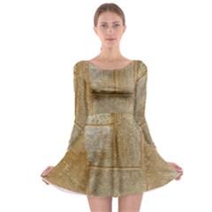 Texture Of Ceramic Tile Long Sleeve Skater Dress