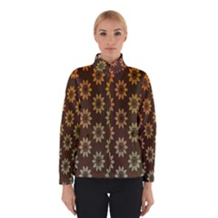 Grunge Brown Flower Background Pattern Winterwear