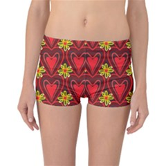 Digitally Created Seamless Love Heart Pattern Tile Reversible Bikini Bottoms