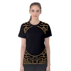 Abstract  Frame Pattern Card Women s Cotton Tee