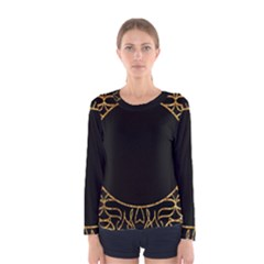 Abstract  Frame Pattern Card Women s Long Sleeve Tee