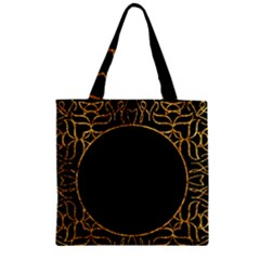 Abstract  Frame Pattern Card Zipper Grocery Tote Bag