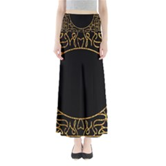 Abstract  Frame Pattern Card Maxi Skirts