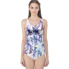 Floral Pattern Background One Piece Swimsuit