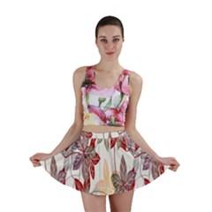 Floral Pattern Background Mini Skirt