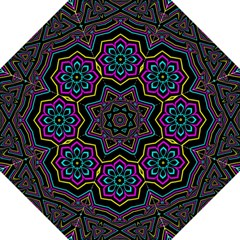 Cyan Yellow Magenta Kaleidoscope Straight Umbrellas
