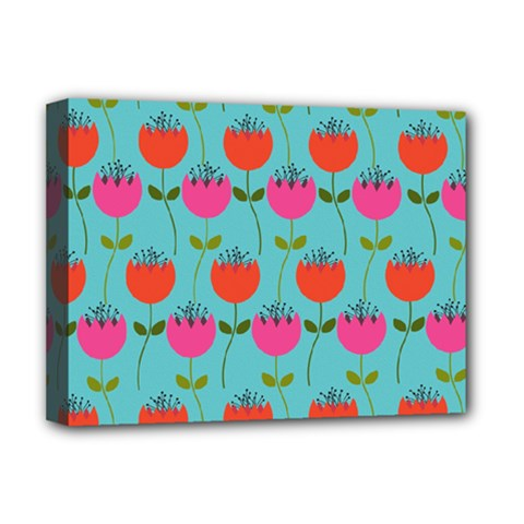 Tulips Floral Background Pattern Deluxe Canvas 16  X 12