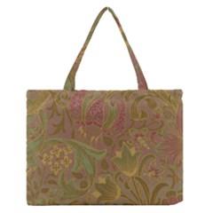 Floral pattern Medium Zipper Tote Bag